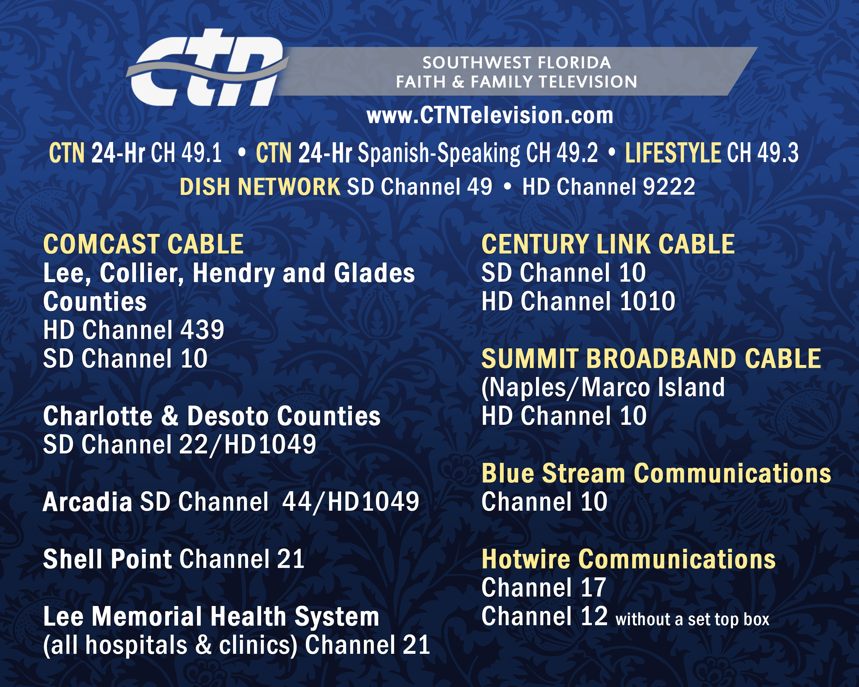 CTN Television Cable Providers
